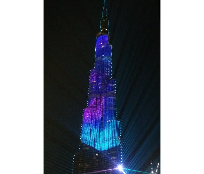 Burj Khalifa light show, Dubai, United Arab Emirates
