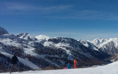 Skiing near Nice at Isola 2000