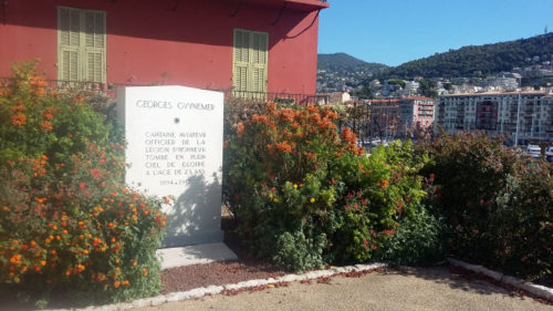 Memorial to French WWI flying ace Georges Guynemer in Nice France
