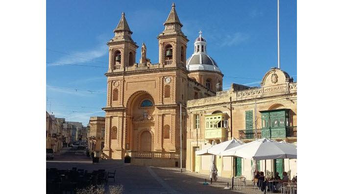 Marsaxlokk parish church, southern Malta