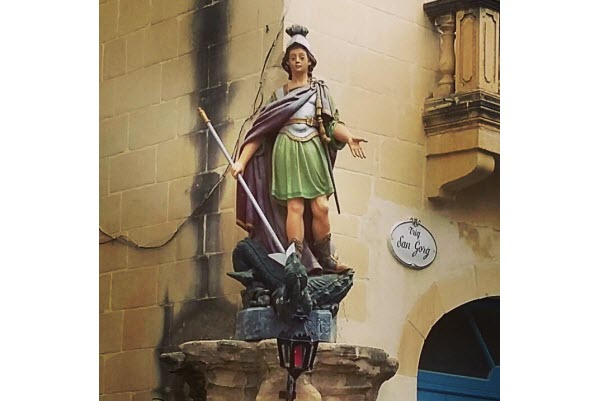 St. George statue, Victoria, Gozo