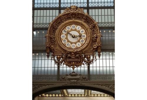 Beaux-arts clock, Musee d'Orsay, Paris