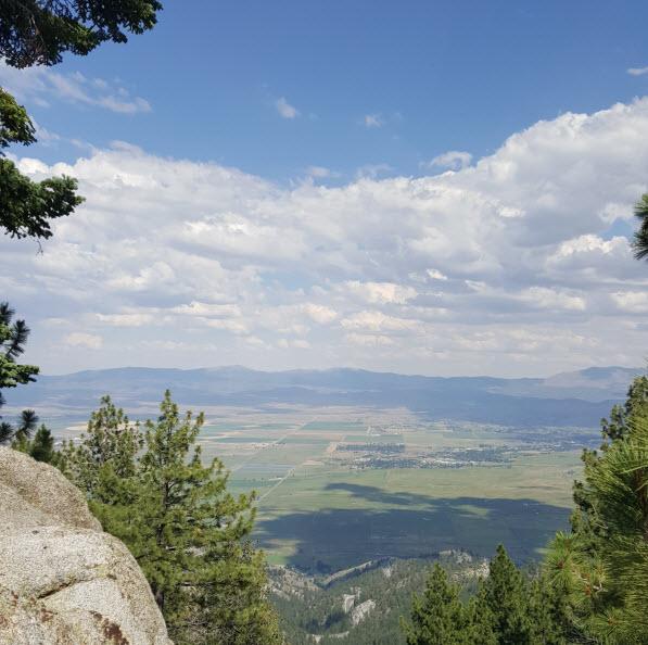Nevada from Lake Tahoe mountain ridge