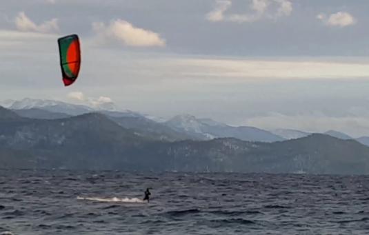Kite sufer on Lake Tahoe