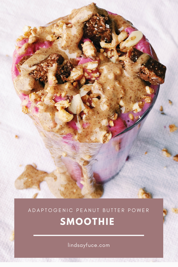 adaptogenic peanut butter power smoothie