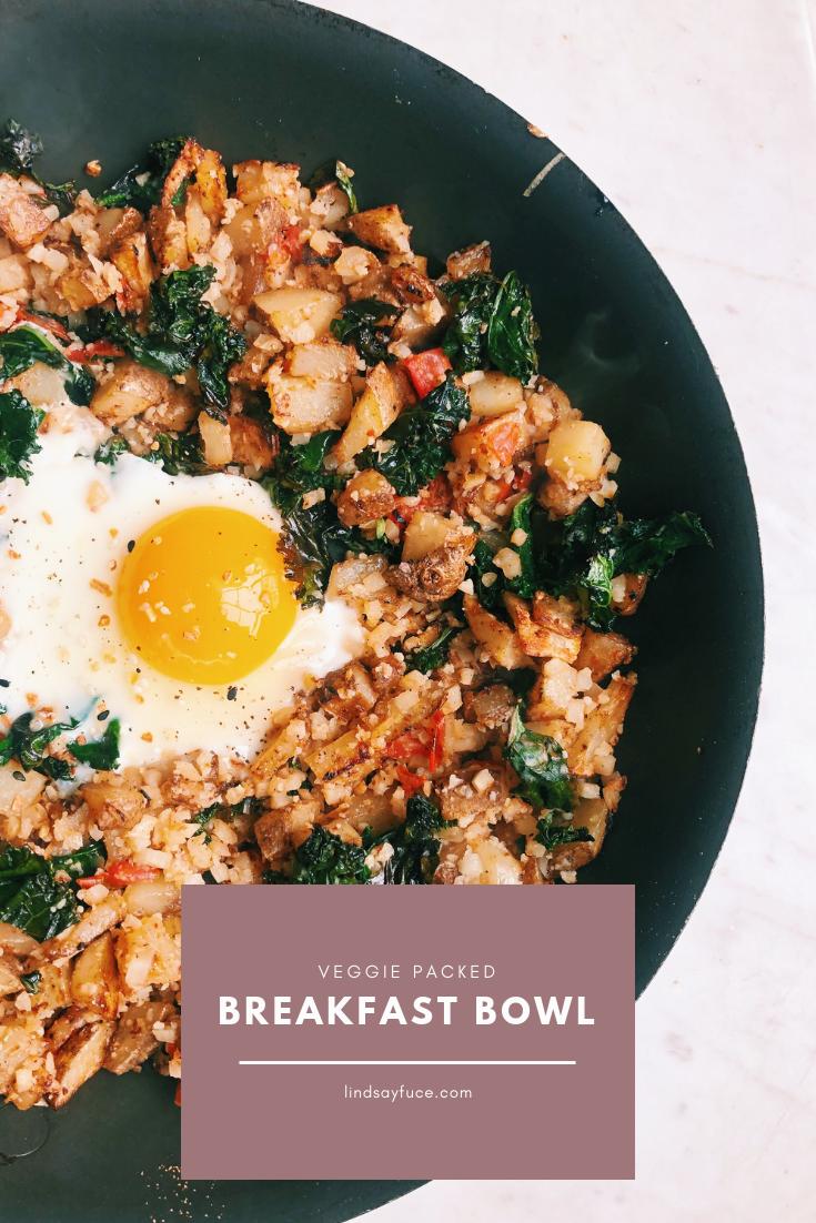 veggie packed breakfast bowl