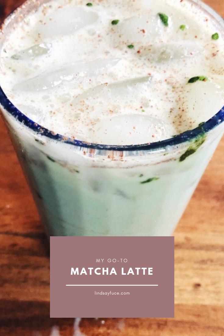matcha latte and silver fern probiotics