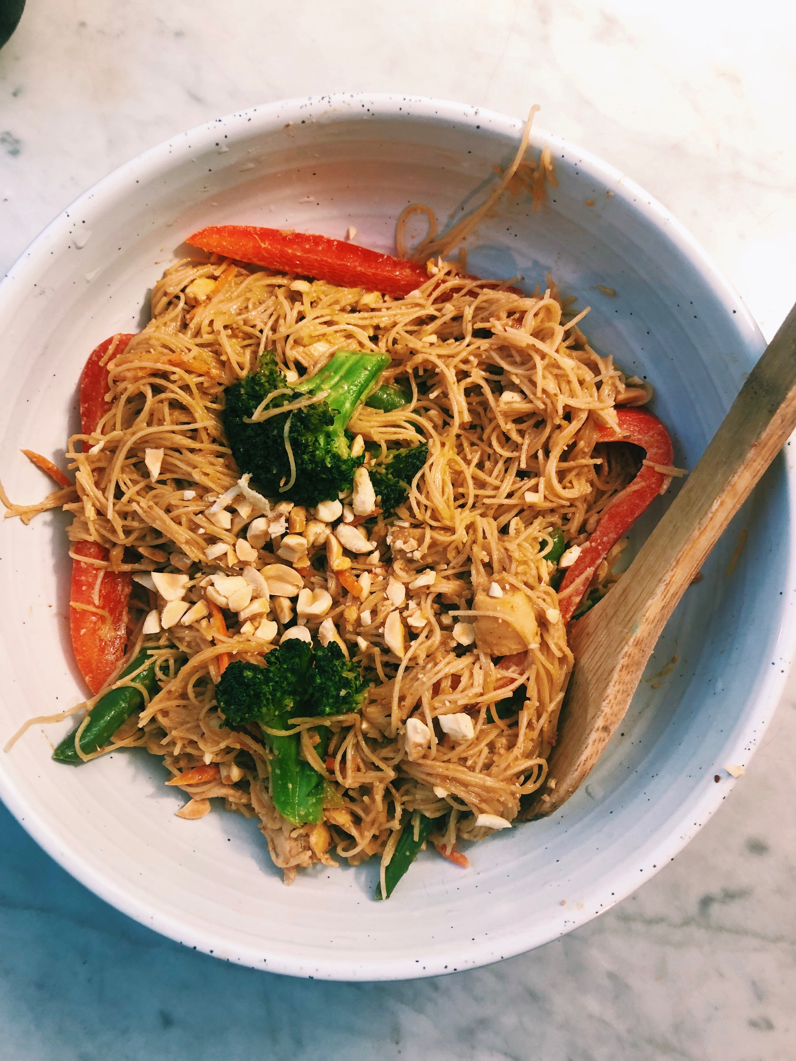 Gluten-Free Spicy Peanut Pad Thai