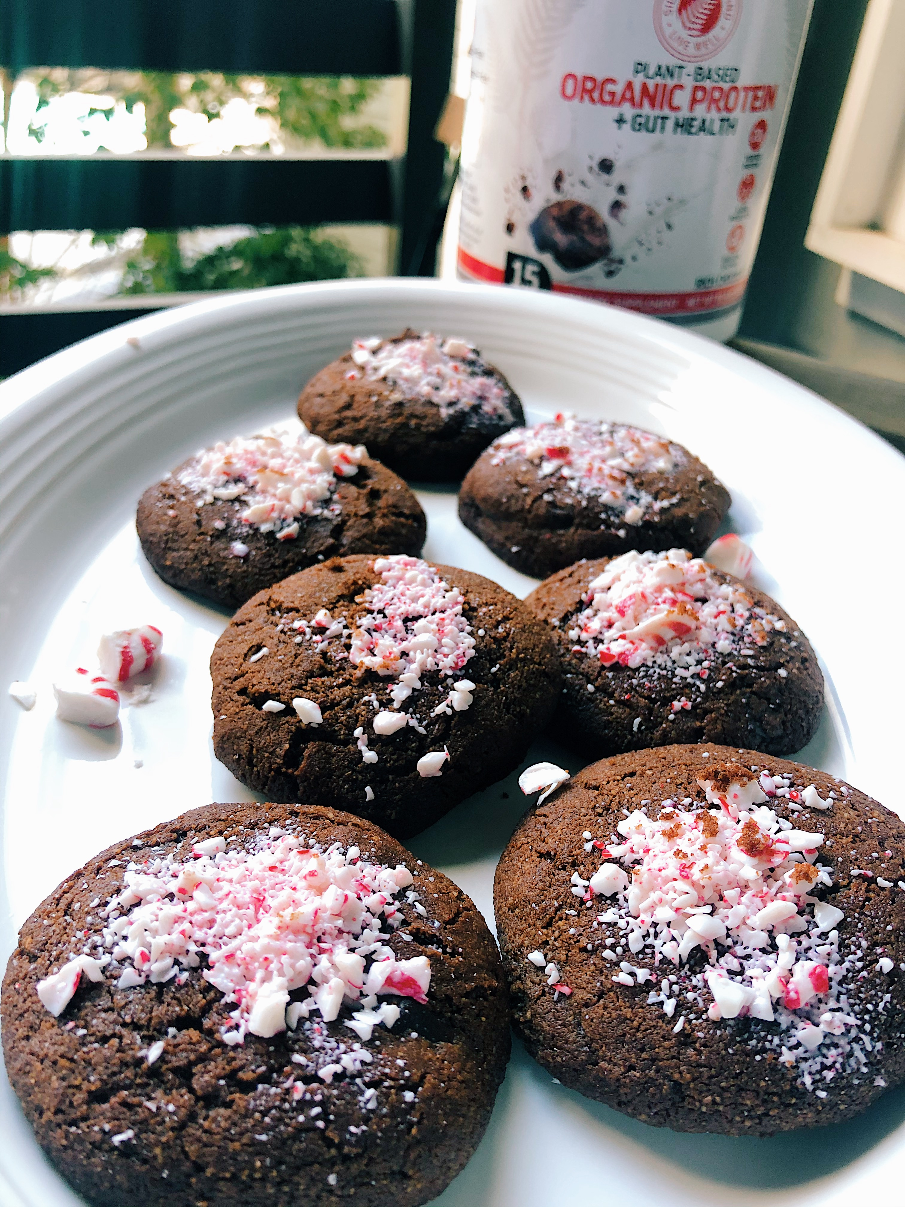Chewy Peppermint Chocolate Cookies