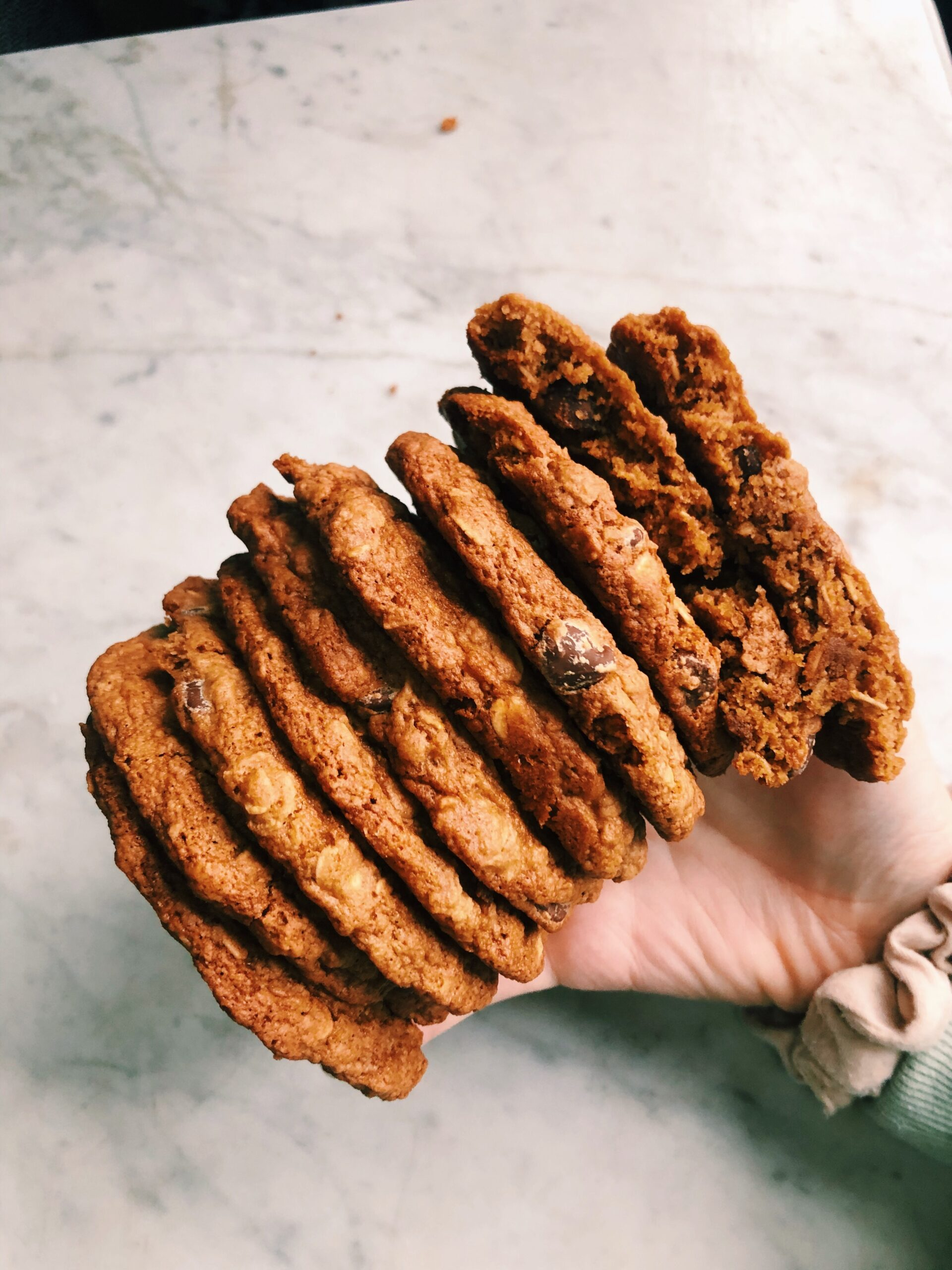Chewy Gluten-Free Oatmeal Chocolate Chip Cookies