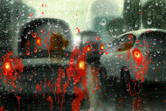 Shannon Jeffries Art_rain_car