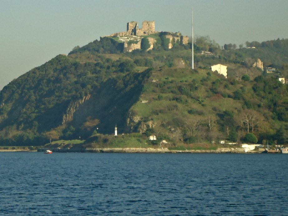Medieval Castle Ruins Looking Over the Black Sea