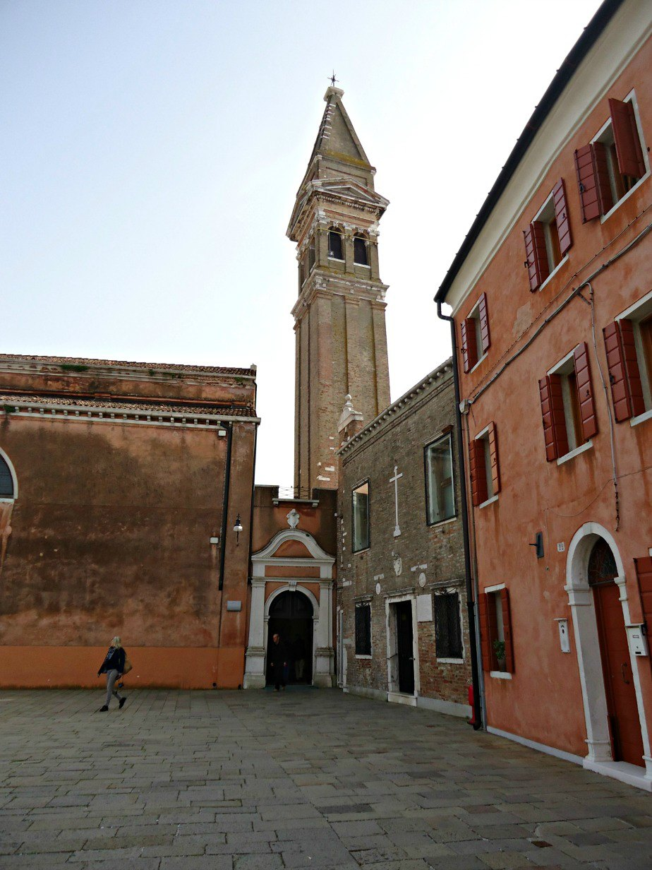 Leaning Bell Tower at Chiesa San Martino Burano Venice