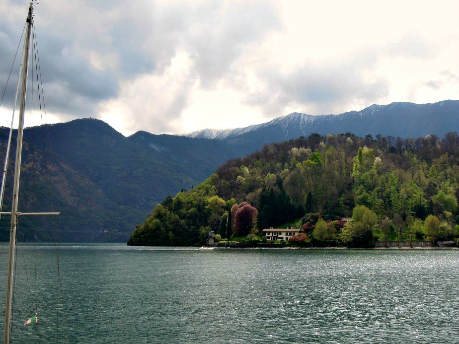 Storm Clouds Building Over Villa del Balbianello Lake Como Italy