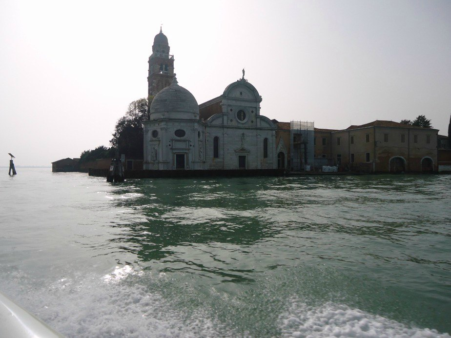 Chiesa San Michele Cimitero Venice Italy from a water taxi