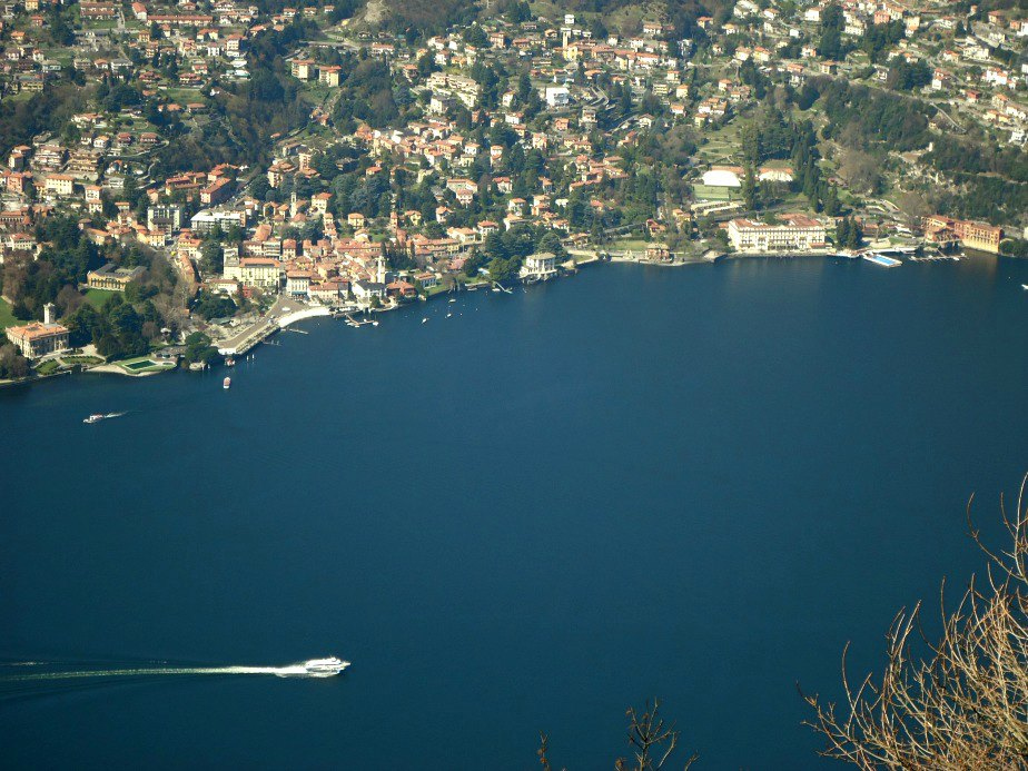 Looking Down on Cernobbio and Villa D'Este