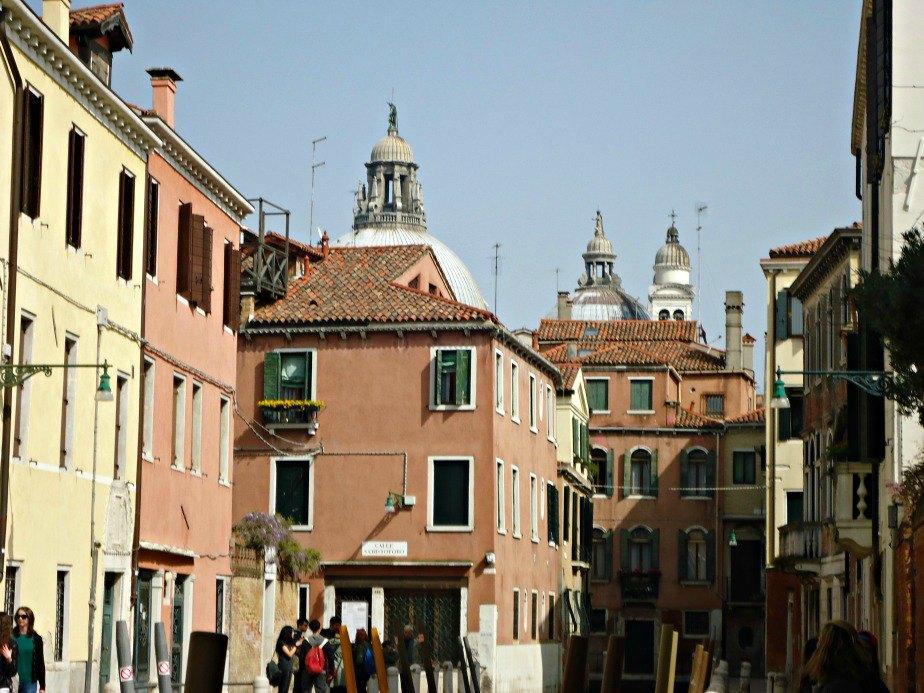 Top of Basilica di Santa Maria Salute taken in Dorsoduro Venice Italy