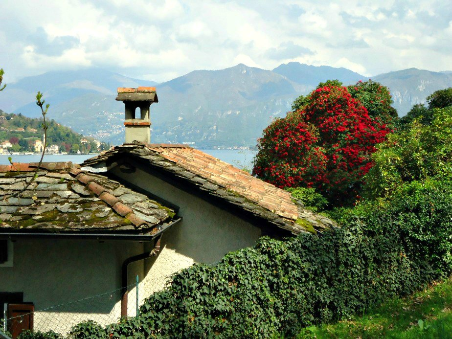Lake Como Italy from the path up to Villa del Balbianello