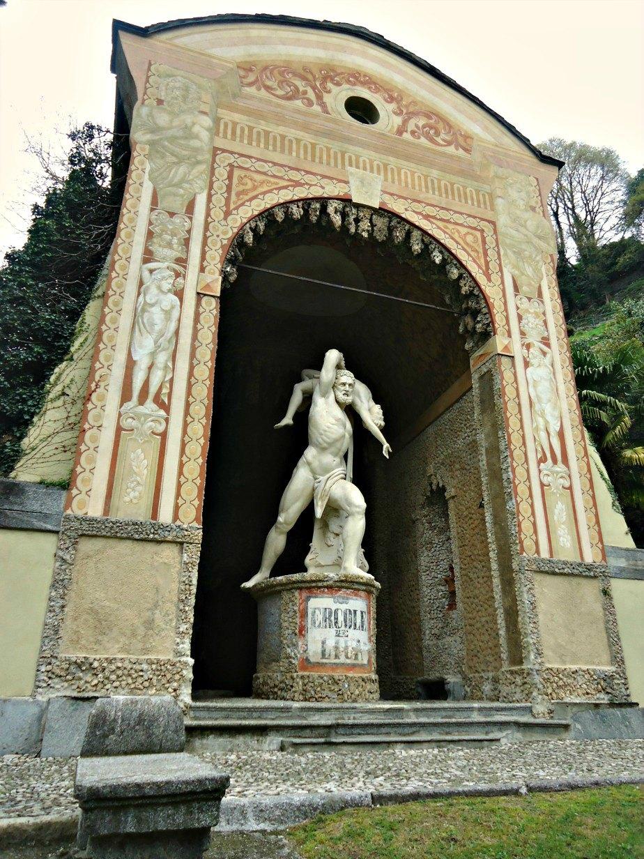 Statue of Hercules Villa D'Este Gardens Cernobbio Lake Como Italy