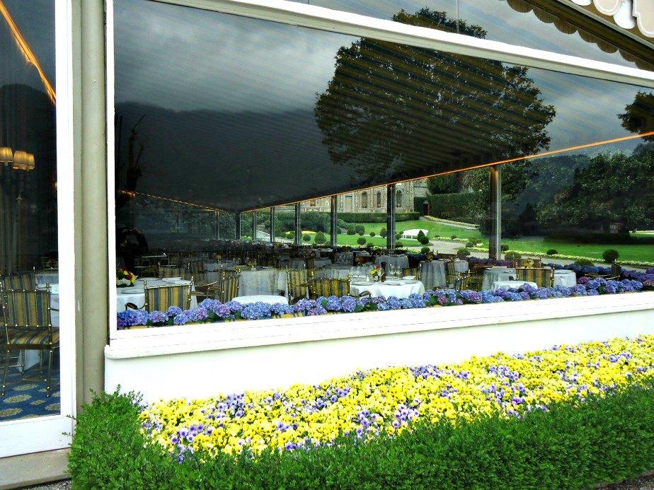 Veranda Resaurant at Villa D'Este Cernobbio Lake Como Italy