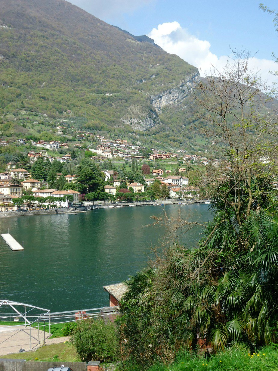Lenno  from the Path leading to Villa del Balbianello Lake Como Italy