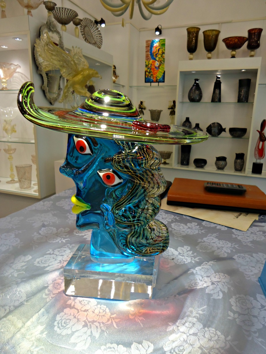 Omaggio a Picasso Glass Sculpture from Estaven Rossetto Fornace Murano