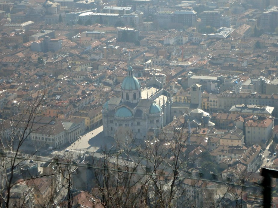 Como Duomo from the Como to Brunate Funicolare Italy