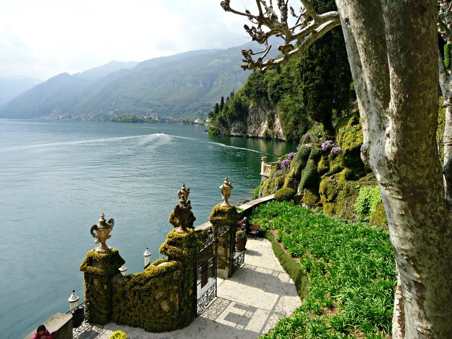 Front Gates at Villa del Balbianello Lake Como Italy