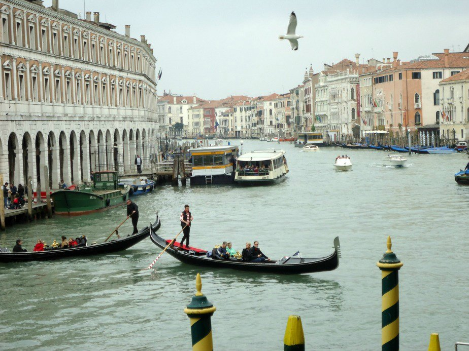 Morning Traffic on The Grand Canal Al Ponte Antico Hotel Grand Canal Venice