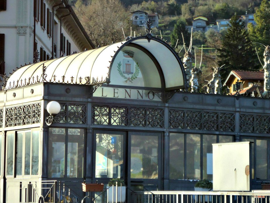 Lenno Ferry Wharf Lake Como Italy