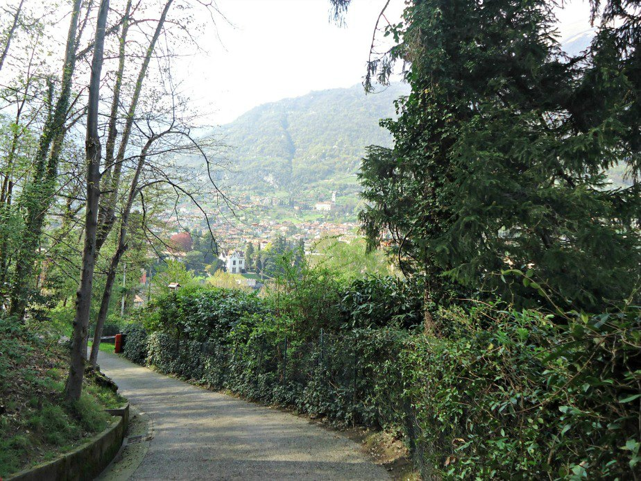 Path Leading back to Lenno from Villa del Balbianello Lake Como Italy