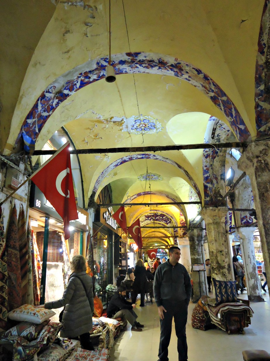 Looking at Carpets in the Grand Bazaar
