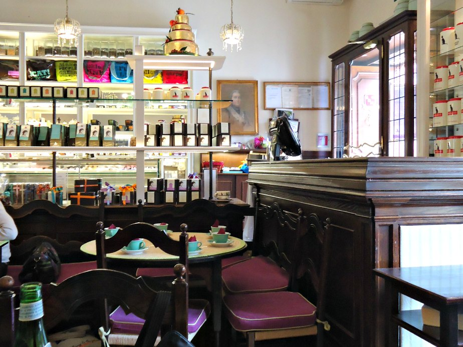 Inside Babington's Tea Rooms