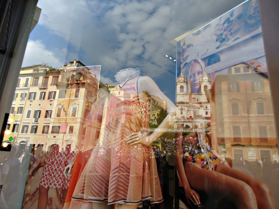 Spanish Steps Reflected in Missoni's Window