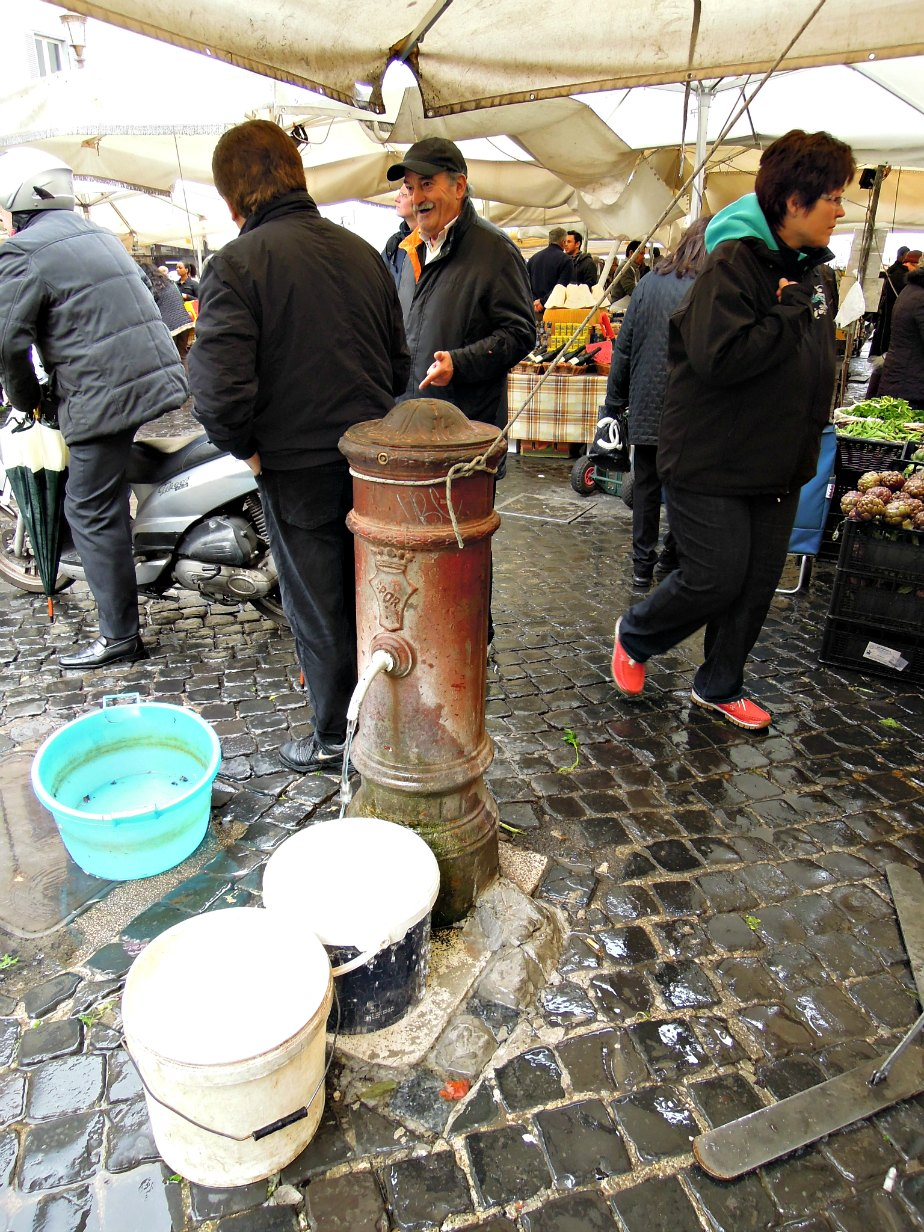 Fresh Drinking Water at Campo dei Fiori, Rome