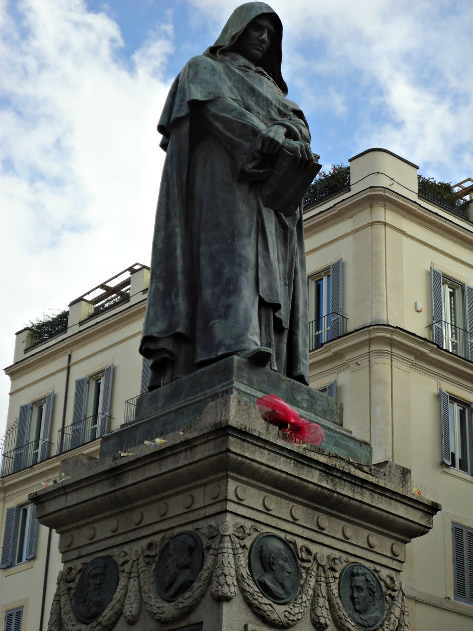 Giordano Bruno was executed at Campo dei Fiori in 1600
