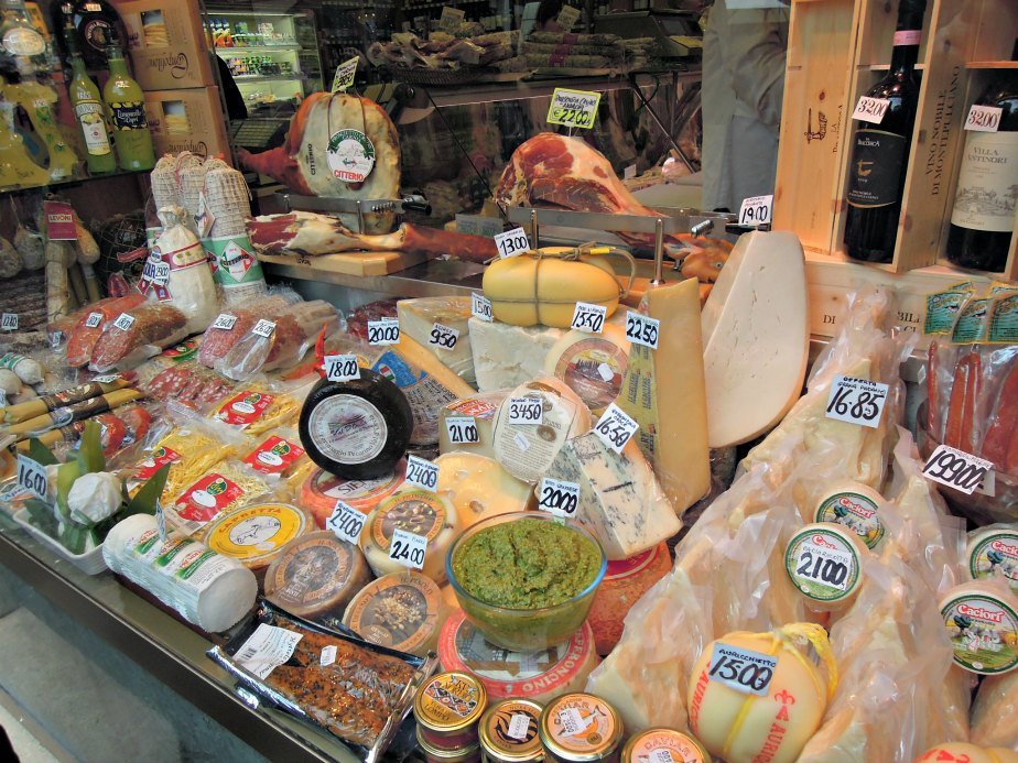 Inside Ruggeri Family Store at Campo dei Fiori