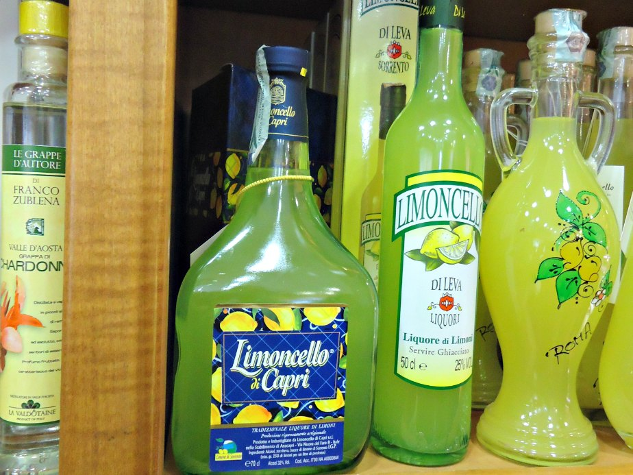 Limoncello at Ruggeri at Campo dei Fiori
