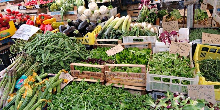Vegetables at Campo dei Fiori