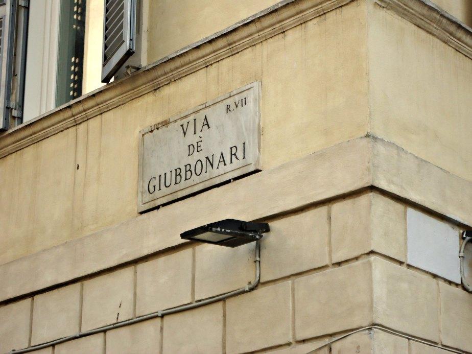 Via Giubbonari from Campo dei Fiori