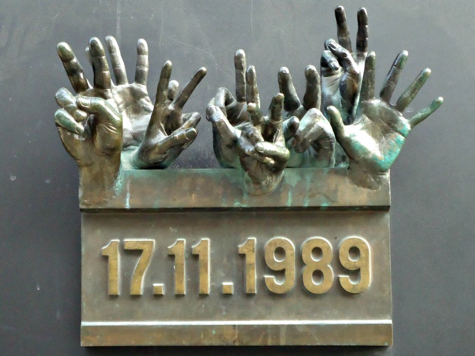 Hands from the Velvet Revolution Prague