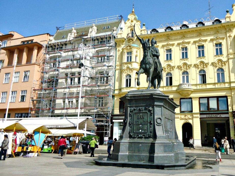 Jelacic Statue in the Main Square