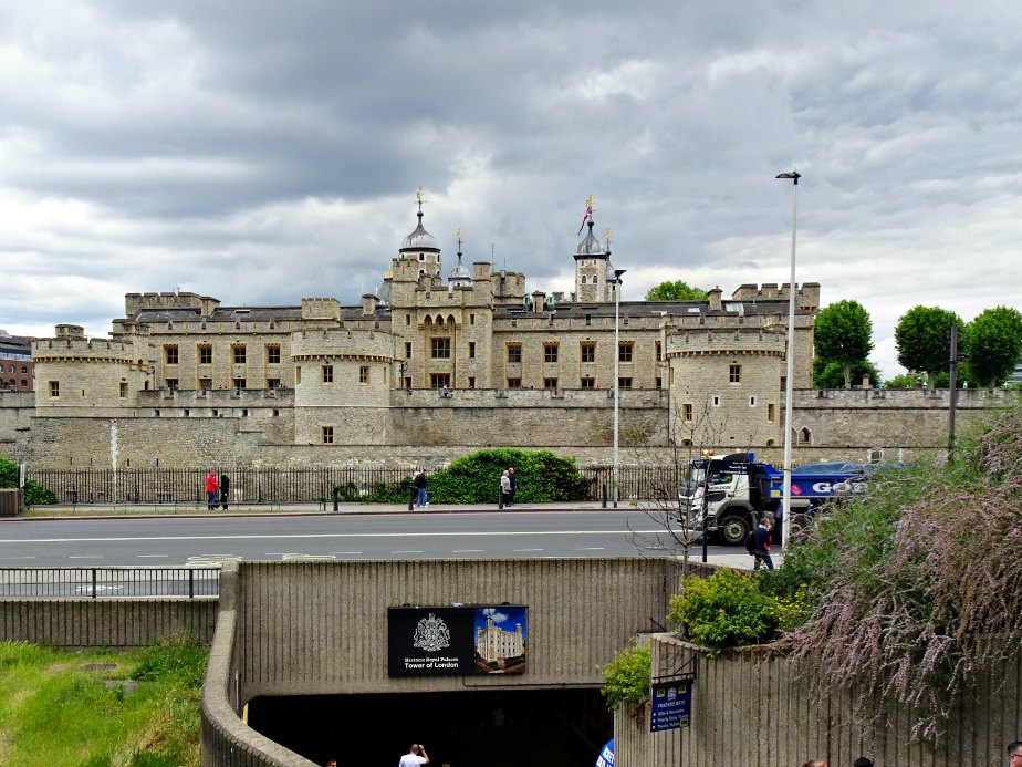 Tower of London from Tower Hill Tube