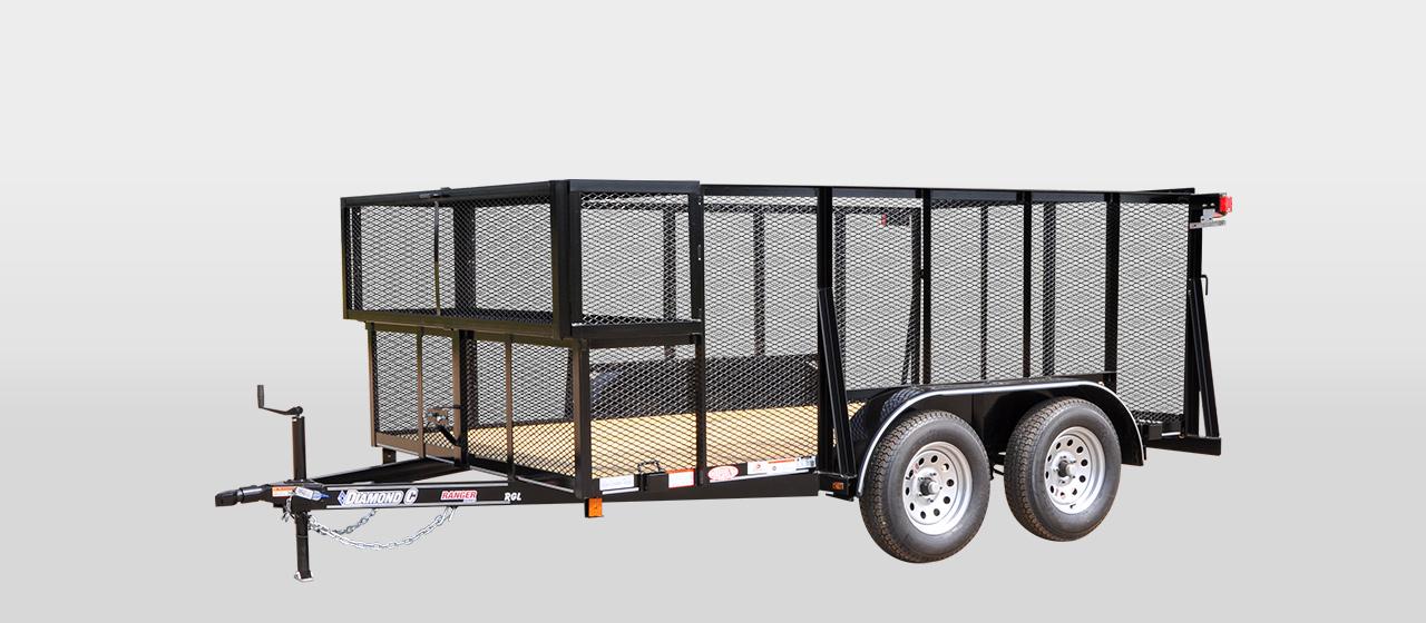 DC Ranger Tandem Axle Landscape Trailer - 7,000 lb GVWR