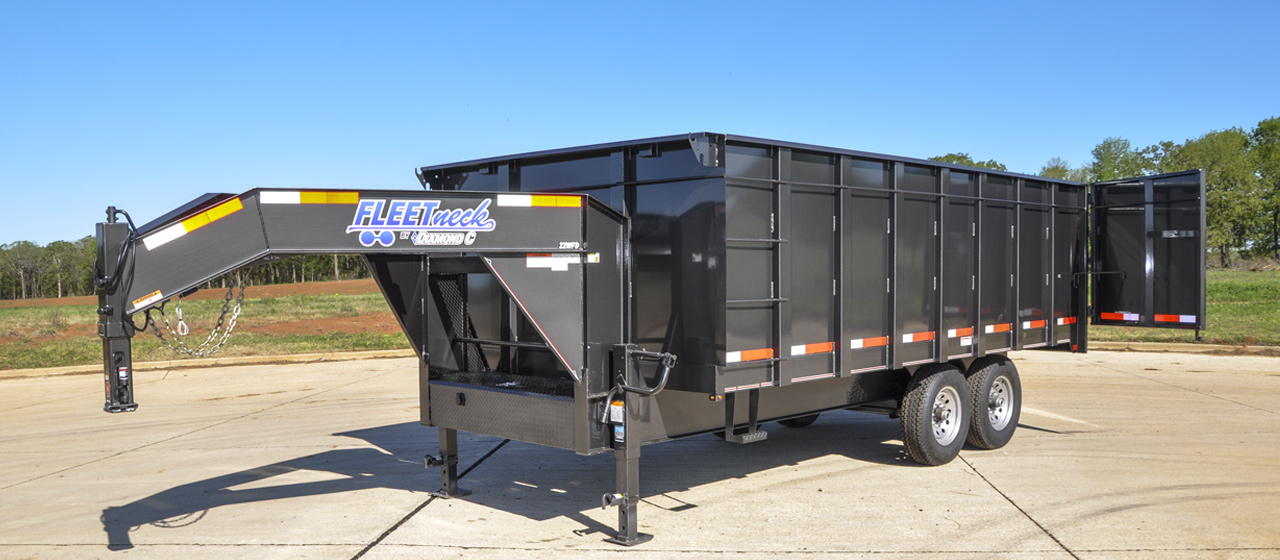 Gooseneck Deck-Over Dump Trailers