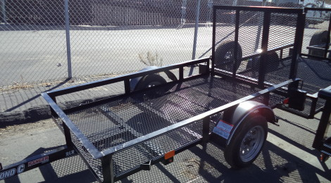 DIAMOND C 4X7 RLR  RANGER SINGLE AXLE UTILITY TRAILER(4389)