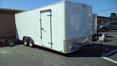 Look 8.5 x 20 Rounded Front Flat Top ST Trailer(2172)