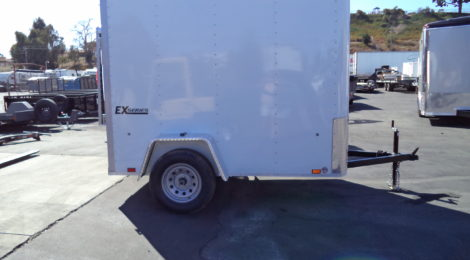 Cargo Express 5x8 EX Cargo/Flat top/Rounded Front Trailer(3915)