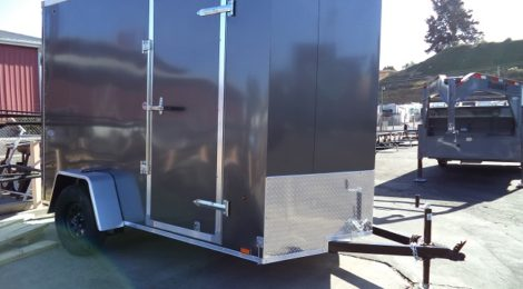 Look 6x10 ST Cargo/Flat Top/ V-Front Slant Trailer(4410)
