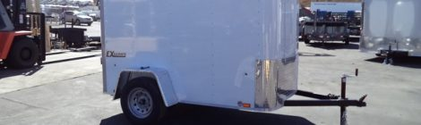 Cargo Express  5x8  /Flat Top/Rounded Front Cargo Trailer(4455)